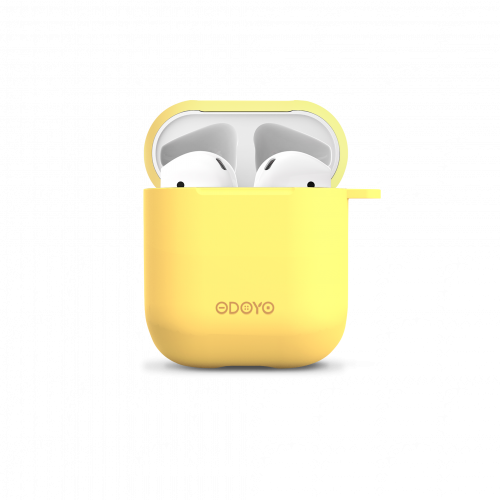 Odoyo AirCoat for AirPods 1st/2nd Generation Liquid Silicone (Lemon Yellow)
